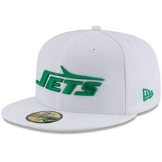 784893d82ed New York Jets New Era Throwback Logo Omaha Fitted Hat - White. NFL Caps    Hats