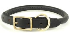 Adjustable Rolled Leather Dog Collar