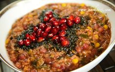 Pomegranate Soup (Ashe Anar). One serving (100g / 3.5 oz) , 2.6g total ...