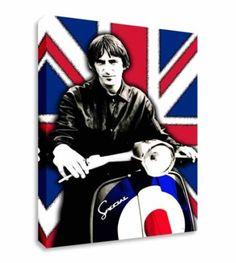 Paul-Weller-Vespa-Union-Jack-Wall-Picture-Canvas-Art-Cheap-Print