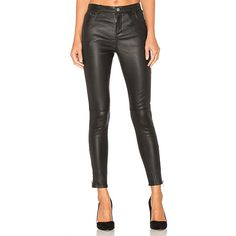 ANINE BING Classic Leather Pants ($1,025) ❤ liked on Polyvore featuring pants, leather trousers, real leather pants, leather pants, genuine leather pants and anine bing