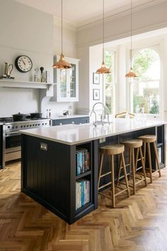 The Crystal Palace Kitchen | deVOL Kitchens #kitchenflooring Living Room Kitchen, Home Decor Kitchen, Interior Design Kitchen, Diy Kitchen, Kitchen Lamps, Kitchen Layout, Kitchen Ideas, Kitchen Trends, Kitchen Size