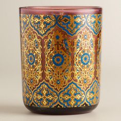 Need to Spruce Up Your Space for Fall? Check out our Red Mango Mandarin Glass Tumbler Candle from Cost Plus World Market's Desert Caravan Collection. >> #WorldMarket Home Decor Ideas, Fall, #SpruceUpYourSpace