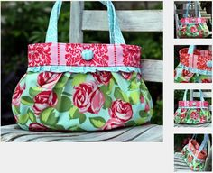 Short & Sassy Pleated Handbag Pattern by Rebeka Lambert