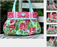 Short and Sassy Pleated Handbag Sewing Pattern