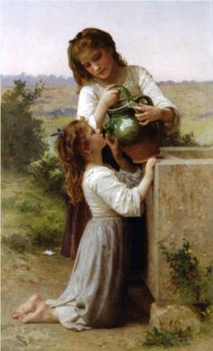 At The Fountain - William-Adolphe Bouguereau- 1897