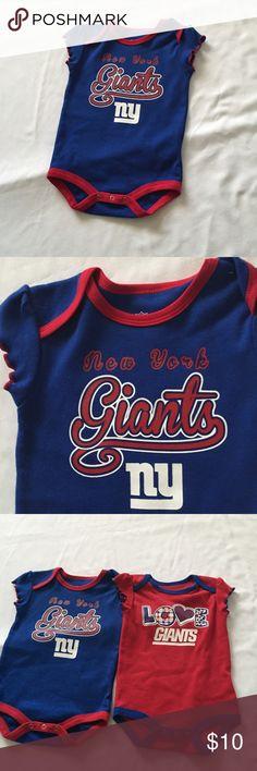 18bb51c1b51 New York Giants ny Football Logo Bodysuit Romper