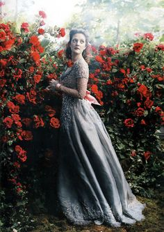 "Drew Barrymore as Belle in ""Beauty and the Beast"" - Annie Leibovitz for Vogue…"