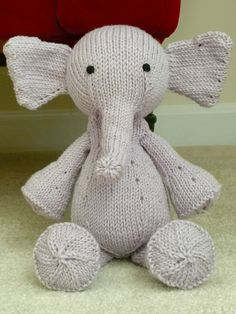 Ready To Ship Baby Shower Gift Hand Knit Elephant by CatDKnits