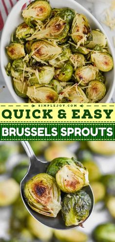 Your Thanksgiving dinner needs this oven roasted brussels sprouts recipe! The whole family will love this Thanksgiving side. Not only is it quick and easy, but it is also delicious thanks to garlic, red chili flakes, and parmesan!