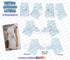 how to pair outfits Easy Sewing Patterns, Sewing Tutorials, Clothing Patterns, Dress Patterns, Sewing Projects, Pattern Draping, Sewing Blouses, Diy Kleidung, Pattern Cutting