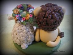 Polymer Clay Lion and Lamb Wedding Cake by trinasclaycreations, $95.00