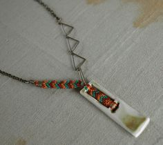 Porcelain Reed Pendant Necklace via Etsy.