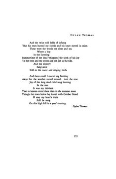 Poem in October by Dylan Thomas | Poetry Magazine