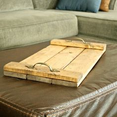 Serving Tray- Wooden Tray- Ottoman Tray- Decorative Ottoman Trays- Wood Tray- Wood Tray with Handles- Gift for Women- Gift Ideas