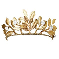 NancyAndFlo, hair and bridal accessories designed and beautifully made for the modern bride Hair Jewelry, Wedding Jewelry, Fashion Jewelry, Jewellery, Bridal Headpieces, Bridal Tiara, Gold Leaf Crown, Gold Wedding Crowns, Gold Headpiece