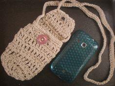 Bolsito para guardar el móvil en crochet by KaskabelMalva on Etsy, €12.00