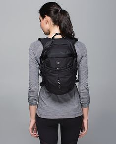 Health Goth // Lululemon / Run All Day Backpack