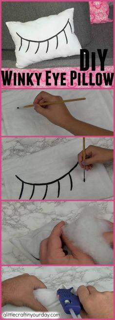 DIY Winky Eye Pillow