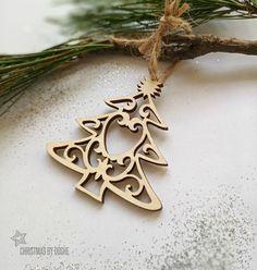 Amazing laser cut Christmas tree ornament / Christmas decorations / Christmas gift ideas / Christmas ornaments / Wood ornaments/ Wood decor by DosheEcoDecorCharms on Etsy
