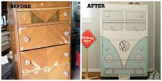 A Garage Sale Dresser Gets a Second Life as a ... Bus?  - HouseBeautiful.com
