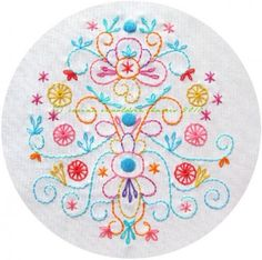 Embroidery Pattern - Harvest Sky PDF. love the colors!