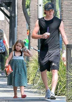 Too cute: Brooklyn and Harper looked inseparable when they stepped out in LA on Thursday