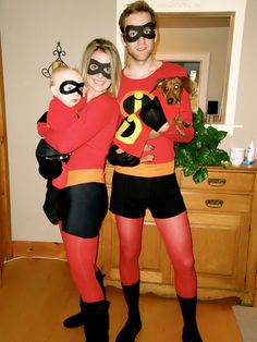 Incredible Family Halloween Costumes. Don't know if Chris would go for the spandex look.  Lol