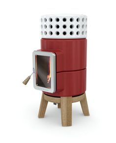 This chunky beauty is from the Stack stylish wood stoves collection by Adriano Design. Even though it has just been launched it has already won the Design Antique Wood Stove, How To Antique Wood, Wood Pellet Stoves, Wood Burning Oven, Wood Stove Cooking, Cast Iron Stove, La Pile, Wood Pellets, Wood Burner