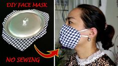 Make Fabric Face Mask At Home | DIY Face Mask No Sewing Machine | Simple Face Mask Pattern - YouTube Diy Mask, Diy Face Mask, Face Masks, Sewing Tutorials, Sewing Crafts, Simple Face, Mask Template, Pocket Pattern, Gifts For Husband