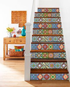 Door decals stairs decals Units Kitchen Tile Sticker Set decals Tiles for Bathroom home decor authentic Spanish ancient tile Peel And Stick Tile, Stick On Tiles, Room Tiles, Kitchen Tiles, Kitchen Decals, Spanish Tile Kitchen, Traditional Tile, Tile Decals, Shabby Chic Kitchen