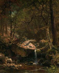 Albert Bierstadt's Mountain Brook (1863)