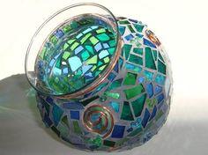 mosaic glass vase