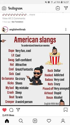 Slang English, English Speaking Skills, Teaching English Grammar, English Writing Skills, Learn English Words, English Phrases, English Idioms, English Language Learning, English Lessons