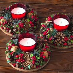 In this DIY tutorial, we will show you how to make Christmas decorations for your home. The video consists of 23 Christmas craft ideas. Christmas Candle Decorations, Cool Christmas Trees, Christmas Arrangements, Large Christmas Baubles, Christmas Candles, Christmas Wood, Diy Christmas Ornaments, Christmas Lights, Holiday Crafts