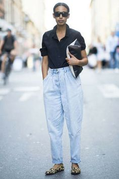 Mom jeans on the street