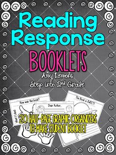 Reading Response booklets Step into 2nd Grade with Mrs. Lemons