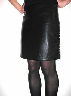 Bnwt Femme Smart Noir Mock Wrap Over Front Argent Boucle Trim Jupe UK 20 22