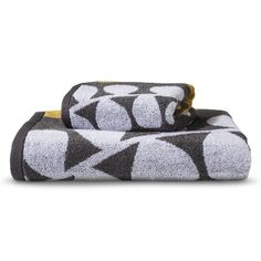 Room Essentials™ Vine Bath Towels - Gray/Yellow