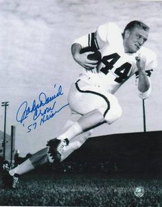 "John David Crow Autographed Texas A 8x10 Photo Inscribed ""57 Heisman"""