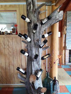 Wine Rack Wall, Wine Glass Rack, Diy Home Crafts, Wood Crafts, Home Wine Cellars, Twig Furniture, Rustic Wine Racks, Wine Shelves, Wine Display