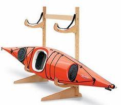 freestanding wood #kayak rack