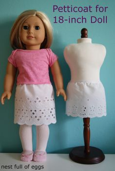 petticoat for 18-inch doll by nest full of eggs