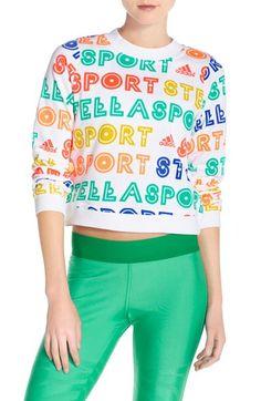 ADIDAS BY STELLA MCCARTNEY Logo Crop Sweatshirt. #adidasbystellamccartney #cloth #