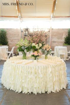 Romantic Ruffles Table Skirt (Available in multiple sizes and colors)