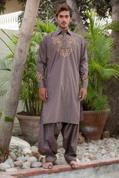 Deepak & Fahad Stylish Men's Wear Kurta Eid Collection 2012_08