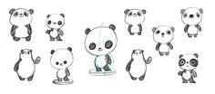 Panda Vinyl Toy on Behance Vinyl Toys, Desk Toys, Character Design, Peanuts Comics, Drawings, Illustration, Toy Art, Panda, Snoopy
