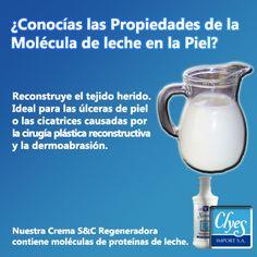 Las propiedades de las #MoléculasdeLeche en la piel. La Cremas S&C Natural Regeneradora te puede ayudar a lucir una #PielEsplendida.