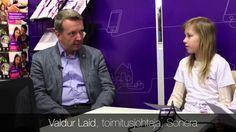 Yrityskylän lapset haastattelevat toimitusjohtajaamme Valduria // Me and MyCity pupils are interviewing Sonera's CEO