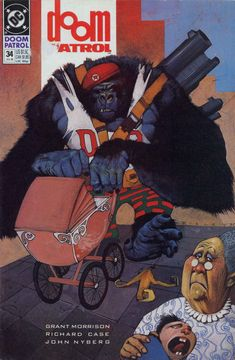 The cover to Doom Patrol #34 (1990), art by Simon Bisley